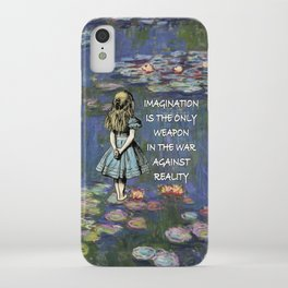 Water Lilies Magic - Alice In Wonderland Quote iPhone Case