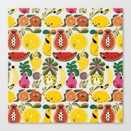 Puppical Fruits Canvas Print