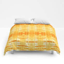 Satin Shibori Yellow Comforters