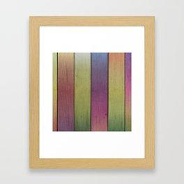 Wood Plank Colormix Framed Art Print