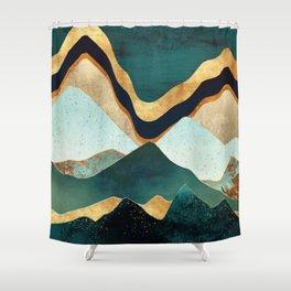 Velvet Copper Mountians Shower Curtain