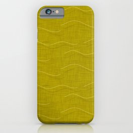 SHARK WHALE WAVES MUSTARD iPhone Case
