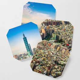 Aerial view and cityscape of Taipei, Taiwan Coaster
