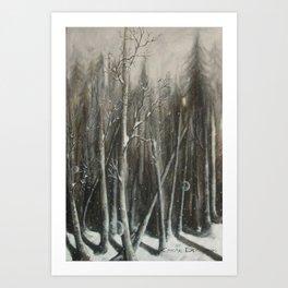 Winter Bubbles ~ Original Art Art Print