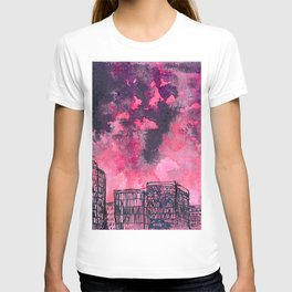 building watercolor city T-shirt