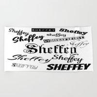 Sheffey Fonts in Black Beach Towel
