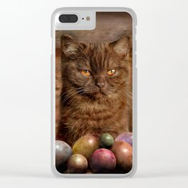 The Boss of the Balls Clear iPhone Case
