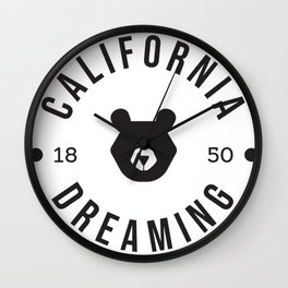 California Dreaming Minimalist Bear Wall Clock