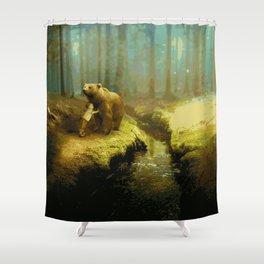 A Little Boy's Dreamscape (Painting) Shower Curtain