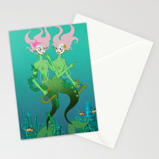 Siamese Mermaids Stationery Cards