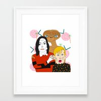 home alone Framed Art Prints featuring Home alone? by Elena Éper