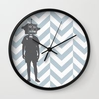 sci fi Wall Clocks featuring Sci-Fi Geek by Jade Deluxe
