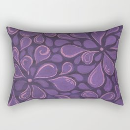 Purple Raining Rectangular Pillow