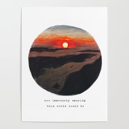 Sunset from above Poster