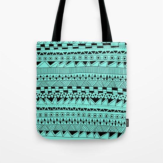 Fun - Black and Mint Tote Bag