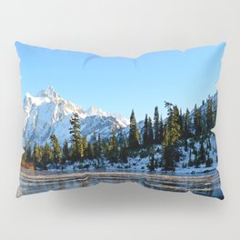 Mount Shuksan from Picture Lake in the Autumn Pillow Sham