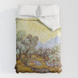 Olive Trees by Vincent van Gogh Comforters