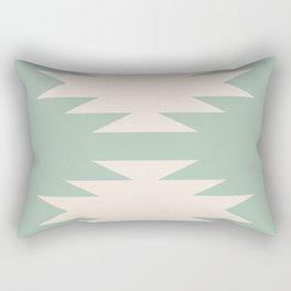 Geometric Southwestern Minimalism - Sage Green Rectangular Pillow