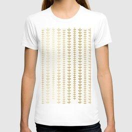 Minimalist gold vines pattern T-shirt