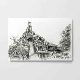 Splash Mountain Metal Print