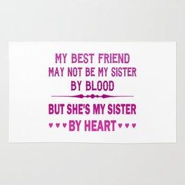 I LOVE MY BEST FRIEND - MY SISTER Rug