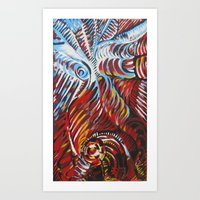 Angels and demons Art Print