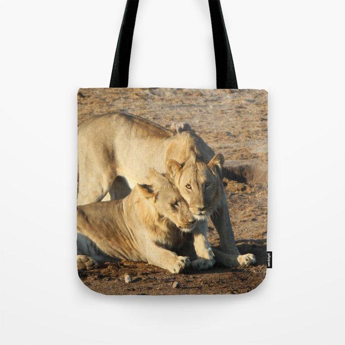 Lion Love Tote Bag
