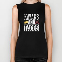 Kayaks and Tacos Funny Taco Biker Tank