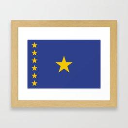 Kinshasa ethnic flag Framed Art Print