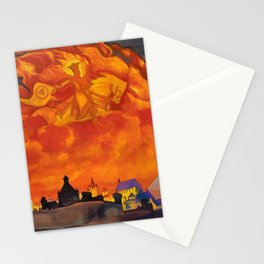 Nicholas Roerich - St Sophia The Almighty Wisdom - Digital Remastered Edition Stationery Cards