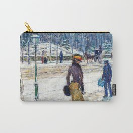 Frederick Childe Hassam - New York Street - Digital Remastered Edition Carry-All Pouch