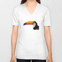 toucan V-neck T-shirts featuring Toucan by emegi