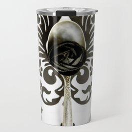 Spoon Black and White Art Travel Mug