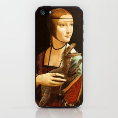 Lady with a Velociraptor iPhone & iPod Skin