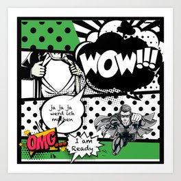 comics2 Art Print