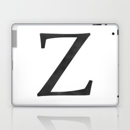 Letter Z Initial Monogram Black and White Laptop & iPad Skin