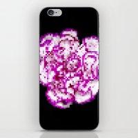 8bit iPhone & iPod Skins featuring 8BIT flower by Alfredo Lietor