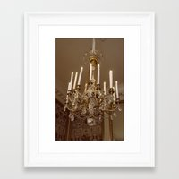 chandelier Framed Art Prints featuring Chandelier by Pati Designs