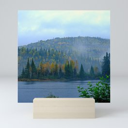 Canada Photography - Foggy Canadian Forest By The Lake Mini Art Print