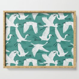 Soaring Wings - Teal Green Serving Tray