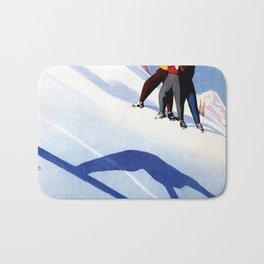 Aosta Valley winter sports Bath Mat