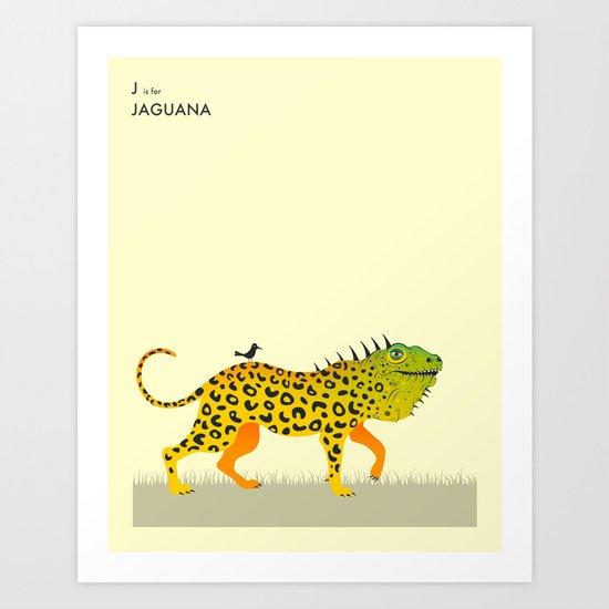 J is for JAGUANA Art Print