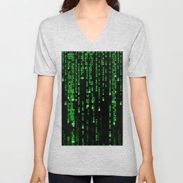 Matrix Binary Code Unisex V-Neck