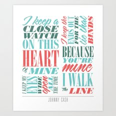 Walk the Line Art Print
