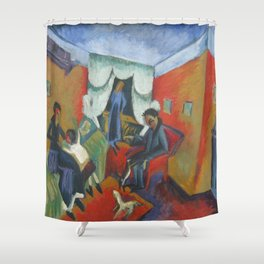 Ernst Ludwig Kirchner Interieur 1915 Shower Curtain