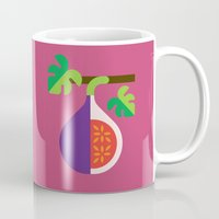 fig Mugs featuring Fruit: Fig by Christopher Dina