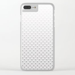 Pastel white grey Clear iPhone Case