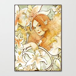 Tiger Lilly Fairy Canvas Print