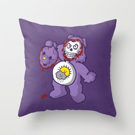 bi-polar care bear  Throw Pillow
