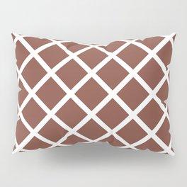 Criss-Cross (White & Brown Pattern) Pillow Sham
